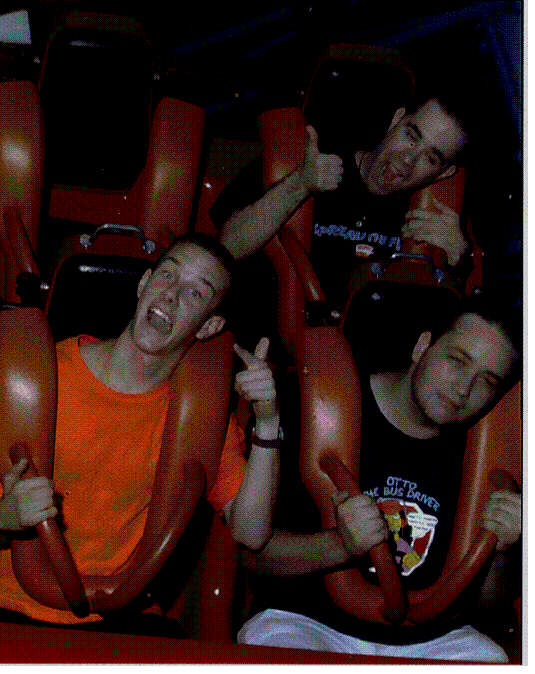 Me, steve W and Aarran at six flags